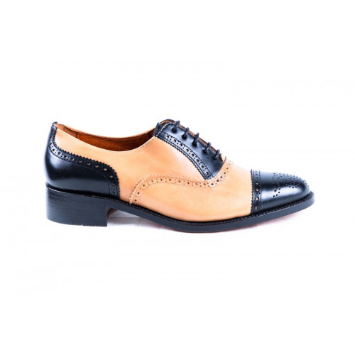 BLACK AND BEIGE OXFORD'S SHOES MODEL 789