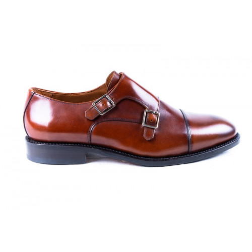 BROWN DOUBLE BUCKLE SHOES MODEL 770