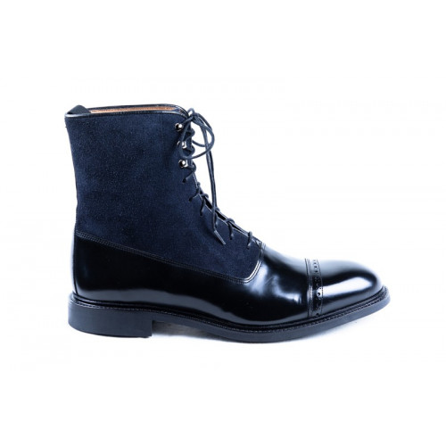 BLACK AND BLUE ANKLE BOOTS MODEL 1126