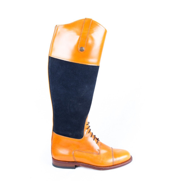 NATURAL AND BLUE BOOTS MODEL 4202