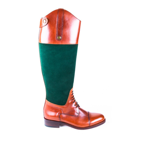 BRONZE AND GREEN BOOTS MODEL 4202